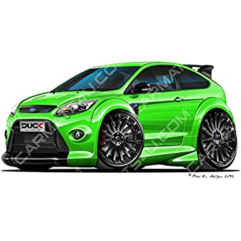Carmats4u Ford Focus Mk2 Rs Bk Vinyl Wall Art Sticker Green