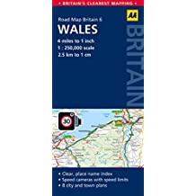 Road Map Britain 06 Wales 1 : 250 000 (Aa Road Map)