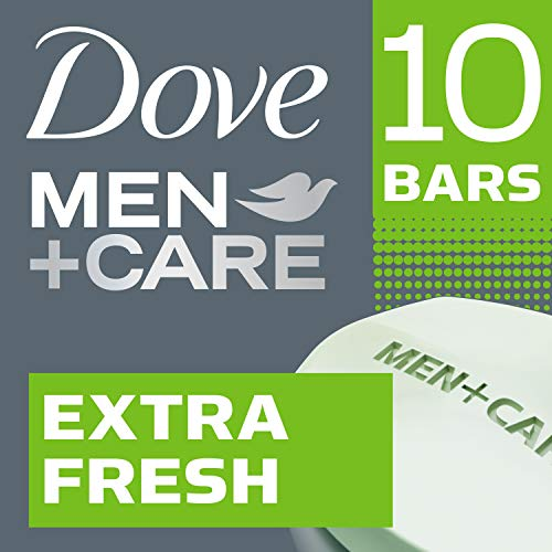 Dove Men+Care Body and Face Bar, Extra Fresh 4 oz, 10 Bar by Dove -