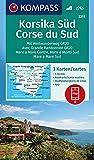 KOMPASS Wanderkarte Korsika Süd, Corse du Sud, Weitwanderweg GR20: 3 Wanderkarten 1:50000 im Set inklusive Karte zur…