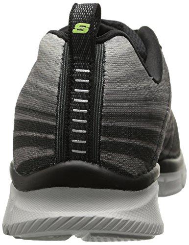 Skechers  EqualizerSplit Up, Sneakers basses hommes Noir (Noir/Gris)