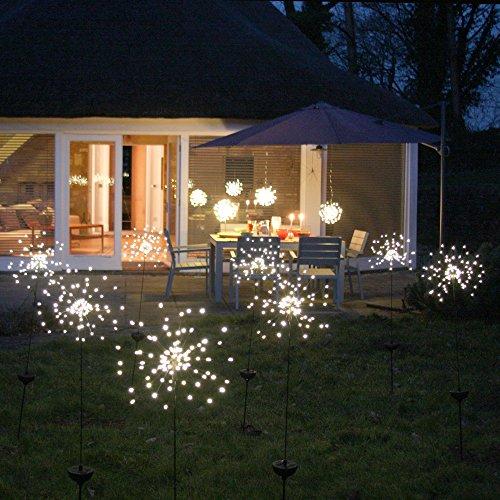 Solar-Starburst–Outdoor-Leuchte (warmes Weiß)