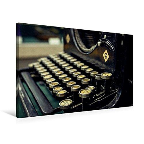 Premium Textil-Leinwand 75 cm x 50 cm quer, Antike Schreibmaschine aus Gusseisen | Wandbild, Bild auf Keilrahmen, Fertigbild auf echter Leinwand, ... Bild alter Bürotechnik (CALVENDO Hobbys)