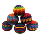 Hacky Sack - Knitted Kick Balls Assorted Colors 6 Pack