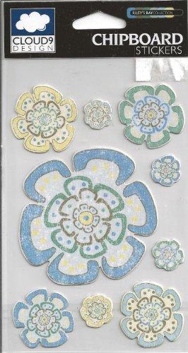 Cloud 9 Design Blume (Riley's Bay 12-01515 Aufkleber/Scrapbook-Aufkleber, Motiv Blumen)