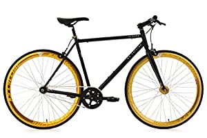 KS Cycling Pegado 103R Vélo fitness fixie Noir 28""