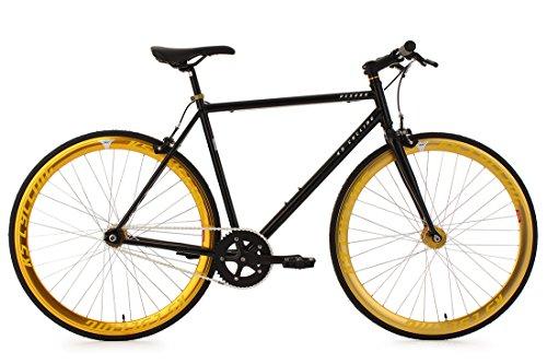 """KS Cycling Fahrrad Fixie Fitnessbike 28\"""" Pegado schwarz-gold RH 53 cm KS Cycling, schwarz, 28, 103R"""