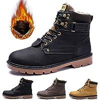 gracosy Hombre Botas de Senderismo Invierno Cálido 2019 Impermeables  Antideslizante Ocio al Aire Libre Zapatos de 6edd718fd56