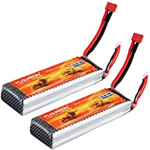FLOUREON - Batería recargable RC 11,1V 3000mAh 3S 30C LiPo con enchufe Deans para vehículos radiocontrol –1unidades