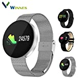 SmartWatch 0.96 OLED Touch Screen Armband Sport Fitness Activity Tracker Wasserdicht Uhr Smartphone Herzfrequenzmesser Blood Pressure Uhr Support Andriod iOS Smartphone Ideal Für Jogging Running
