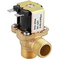 G1/2 DN15 Válvula solenoide DC 12V, Válvula solenoide eléctrica de latón Interruptor de entrada de agua normalmente cerrado con filtro