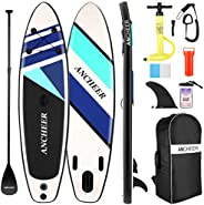 Stand Up Paddle,Tabla de Paddle Surf,Sup Hinchable Ultraligero (7.89kg) con Mochila Gratis,Bolsa Impermeable p