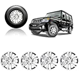 #8: Autorepute Premium Quality Car Full Caps Silver 15inches Wheel Cover for - Mahindra Bolero