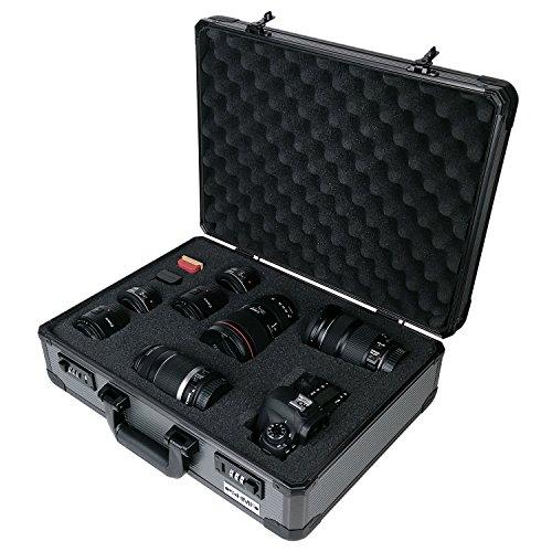 HMF 14402-02 Valigia Fotocamera, Valigia Armi, Valigia Universale, Schiuma Raster, Gomma Piuma, 46 x 16,5 x 36,5 cm
