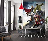 Wallmural Avengers Poster De Ultron 184 X 254 Cm, Iron Man, Captain America, Hulk Thor Black Widow, Marvel, Arrow Papier Peint Intissé