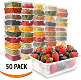 Zuvo Rectangular Microwave Plastic Food Container, Clear, 750 ml, Set of 50