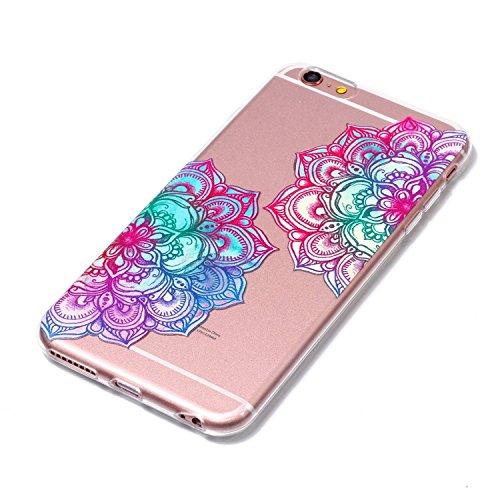 iPhone 6 Hülle, Voguecase Silikon Schutzhülle / Case / Cover / Hülle / TPU Gel Skin für Apple iPhone 6/6S 4.7(Lace Feder 04) + Gratis Universal Eingabestift Bunt Teppich 01