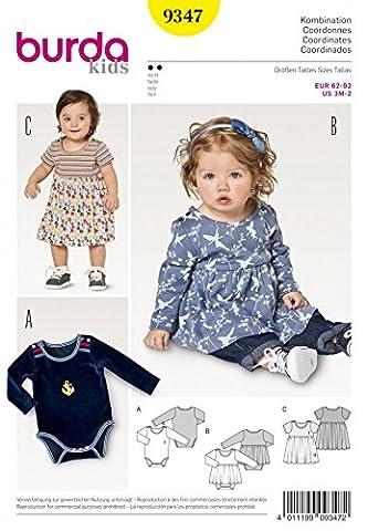 Burda Baby Schnittmuster 9347Kleid &