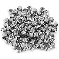 Insertos de rosca de alambre de 100 piezas, juego de reparación de insertos de rosca de alambre de kit de manguito de alambre