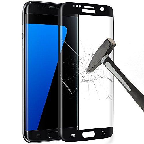 Preisvergleich Produktbild Samsung Galaxy S7 Edge Displayschutz, Schutzfolie, Yica 3D Full Coverage Galaxy S7 Edge Schutzfolie Schutzglas HD Clear Screen protecter Curved Panzerglas Schwarz 9H Tempered Glass für Samsung Galaxy S7 Edge(Schwarz)