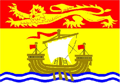 Outdoor - Hissflagge New Brunswick 90 * 150 cm Flagge
