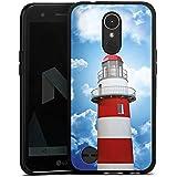 LG K10 (2017) Hülle Silikon Case Schutz Cover Leuchtturm Himmel Wolken