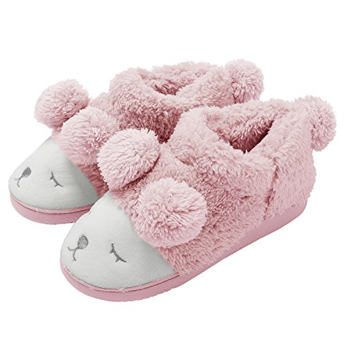 Summer Mae Pantofola Peluche Invernale Animale Donna rosado (high top)