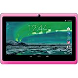 Crypto Q7002 7-Inch LCD Tablet (Pink) - (Quad Core ALLWINNER, 512 MB RAM, 8 GB Storage, Android 4.4)