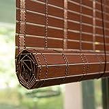 Bambusrollo Innen- / Außenrollläden Fenstervorhänge, Patio/Pavillon/Pergola/Carport Roll-Up-Sonnenschutz, 90 cm / 100 cm / 120 cm / 150 cm Breit (Color : Redwood, Size : 35' x59'/90cmx150cm)