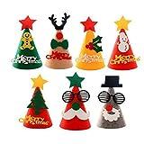 Lvcky Christmas Supplies Kinder Weihnachtsmütze, Vliesaufkleber, Kinderhüte, Party-Dekoration, Requisiten, Kindergarten, Einkaufs-Mall, 5 Stück