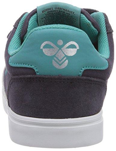 Hummel Hummel Stadil Jr Canvas Lo, Chaussons Sneaker Mixte Enfant Gris (Nine Iron 2358)