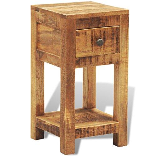 vidaXL Nachttisch Beistelltisch Telefontisch mit 1 Schublade Mango Massivholz