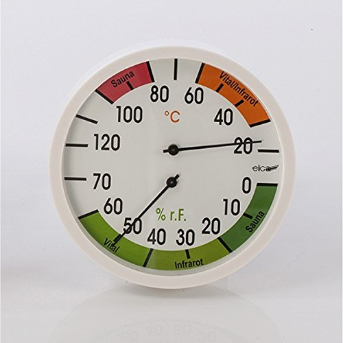 Outdoor-infrarot-sauna (Eliga Klimamesser 120 mm Thermo - und Hygrometer Sauna / Vital / Infrarot)