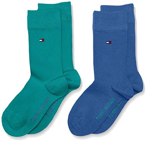 Tommy Hilfiger Jungen Children Sock TH Basic 2P, 2er Pack, Mehrfarbig (Ocean Depths 344), 27-30 (Baby Neugeborene Jungen Hilfiger Tommy)