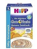 Hipp Gute-Nacht-Brei Banane Zwieback, 4er Pack (4 x 500 g)