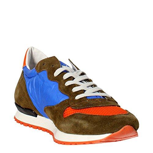 D.a.t.e. BOSTON Sneakers Homme Suède/nylon Bleu