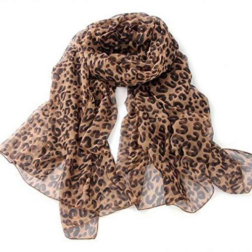 Aisoway Patrón de las mujeres de la bufanda del leopardo clásico bufanda de la manera del invierno del otoño de chifón ligero largos abrigos del mantón de las bufandas de señoras de las muchachas