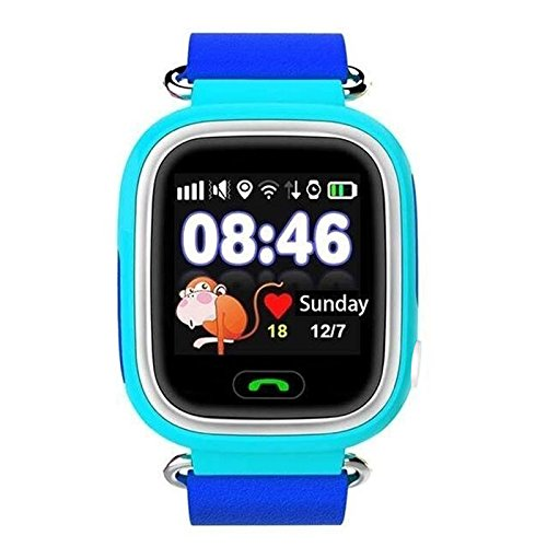 Cewaal Q90 GPS Location Tracker SOS llamada Sim tarjeta Baby Samrt reloj con 1.22 pulgadas de pantalla táctil anti perdidos para niños