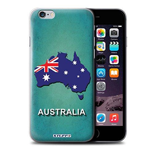 Stuff4 Hülle / Case für Apple iPhone SE / Kroatien/Kroatische Muster / Flagge Land Kollektion Australien/Australian