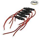 Soccik Sicherungshalter 5x20mm In-line Schraube AGC Glass Schlag Sicherungshalter Fall Rot und Schwarz 1 Stück