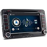 A-Sure 7' Zoll 2 Din Bluetooth FM 3G DAB+ Autoradio OBD Navi DVD GPS Radio RDS Für VW Passat Golf 5 6 Touran Tiguan Transporter Multivan T5 Polo Jetta Caddy Skoda Seat Altea Z5W7 2-Jahre-Garantie