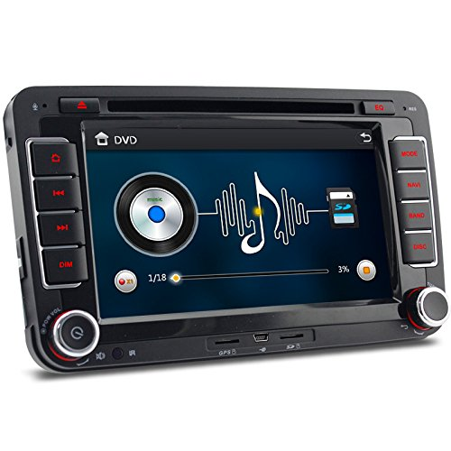 "A-Sure 7"" Zoll 2 Din Bluetooth FM 3G DAB+ Autoradio OBD Navi DVD GPS Radio RDS Für VW Passat Golf 5 6 Touran Tiguan Transporter Multivan T5 Polo Jetta Caddy Skoda Seat Altea Z5W7 2-Jahre-Garantie"