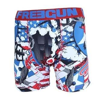 FREEGUN Boxer homme PIN - Large, Bleu