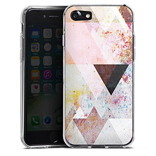 Apple iPhone 5s Hülle Case Handyhülle Dreiecke Grafisch Abstrakt Silikon Case transparent