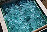 Steingrau Glasbrocken Glassplitt Dekoglas Gabionen Korngrößen 40-80mm grün-türkis 10kg