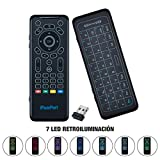 Lychee Wireless 5-in-1 Air Mouse Remote Keyboard with IR Learning Buttons, Etra-Large Touchpad and QWERTY Layout for Android TV Box/Laptop/All-in-One PC/Projector/HTPC/IPTV/Media Player/Smart TV