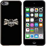 For Apple iPod Touch 6 6th Generation - Famous Tattoo Quote Ink Slogan Paint Case Cover Protection Design Ultra Slim Snap on Hard Plastic - God Garden -