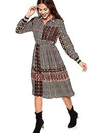 VENCA Vestido Cuello Camisero con Botonadura de nácar Mujer by Vencastyle - 029831