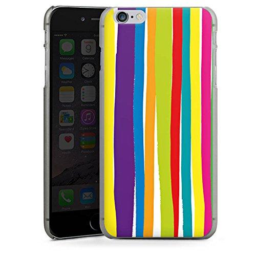 Apple iPhone X Silikon Hülle Case Schutzhülle Streifen Farben gestreift Hard Case anthrazit-klar