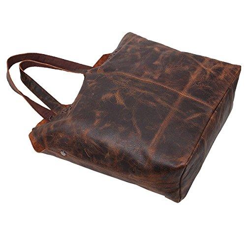 Borse In Pelle Borse Vintage Yy.f Sacchetto Di Spalla Pelle Signora Messenger Bag Grandi Borse Marrone Borse Moda Brown